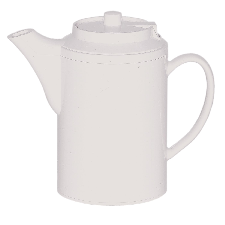 Service Ideas TS612WH 16 oz Dripless Teapot w/ Baffled Spout, Self-Locking Lid, White