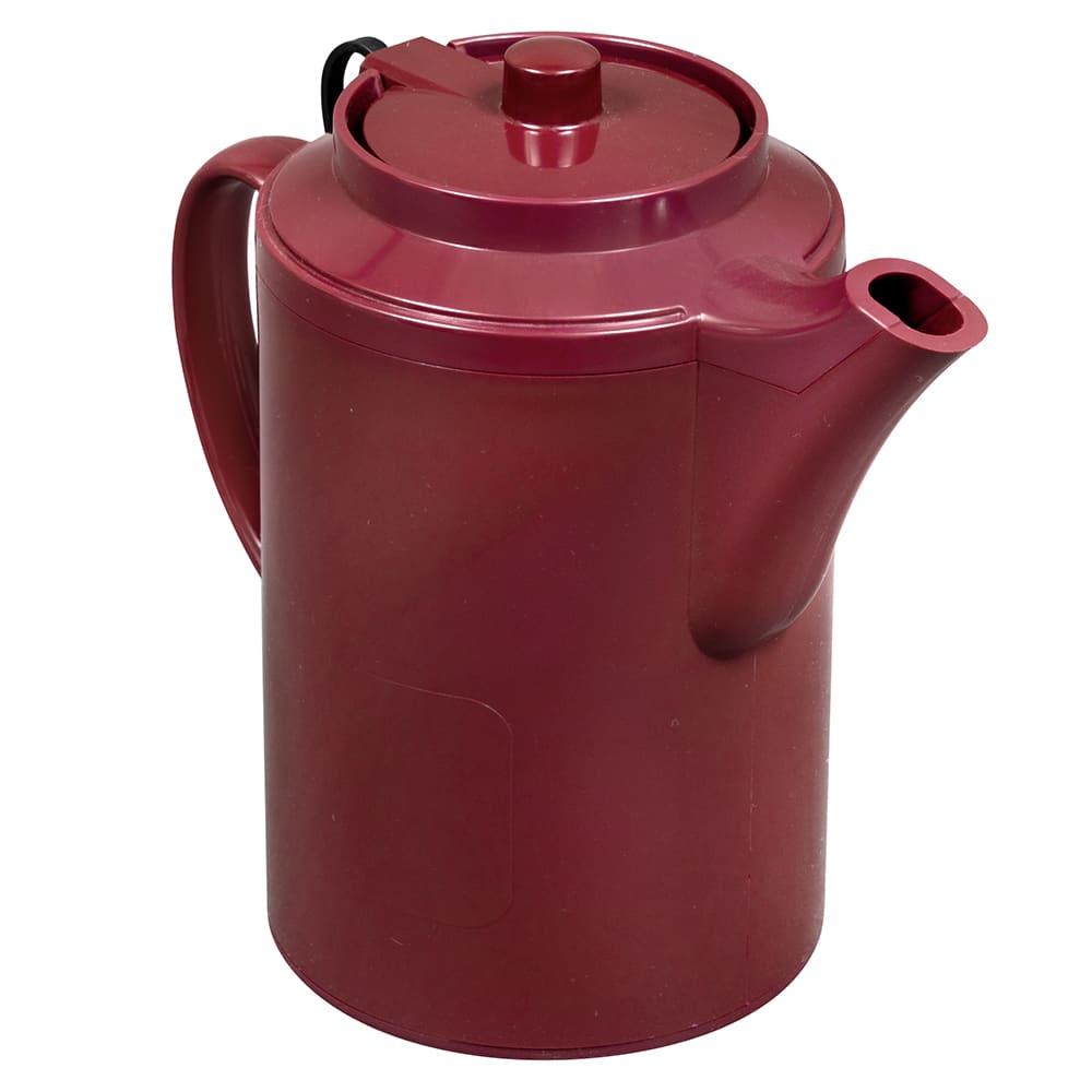 Service Ideas TST612BU 16-oz Dripless Teapot w/ Tether, Baffled Spout, Burgundy