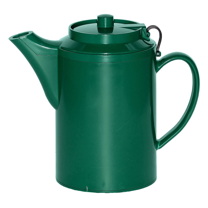 Service Ideas TST612FG 16 oz Dripless Teapot w/ Tether, Baffled Spout, Forest Green