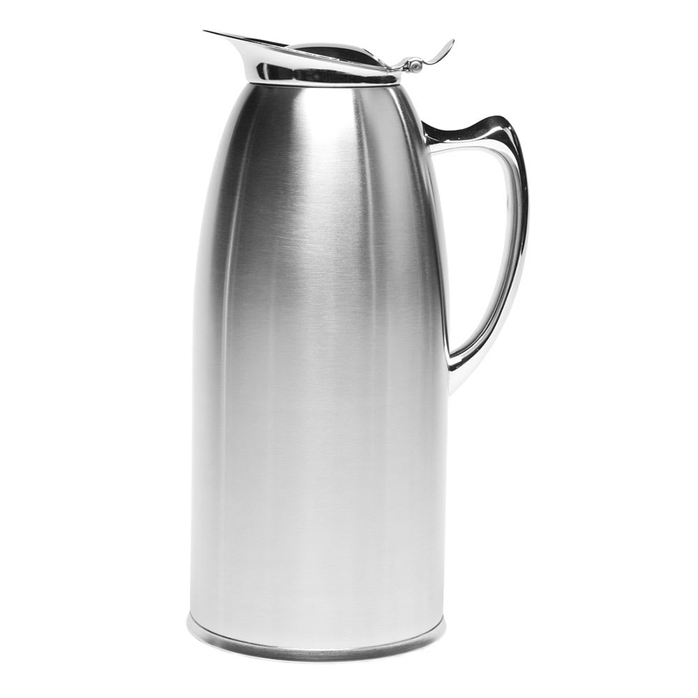 Service Ideas WP20SA 2-liter Pitcher w/ Double-Wall Insulation, Brushed Stainless