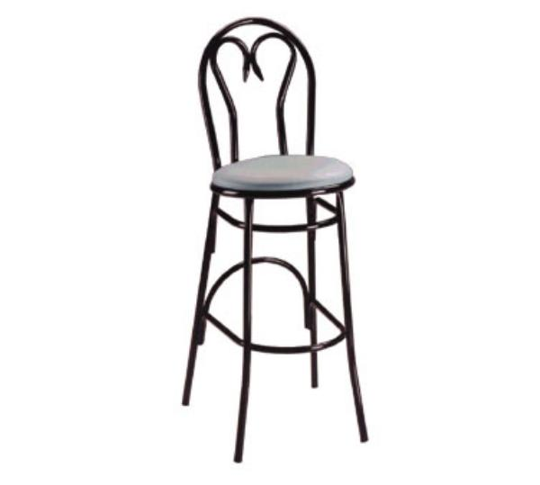 Waymar B1220 Parlor Bar Stool, Metal Sweetheart Back, 1-1/2 in Upholstered Seat