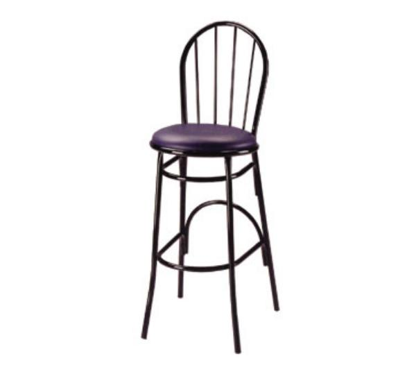 Waymar B1250 Parlor Bar Stool, Metal Spoke Back, 1-1/2 in Upholstered Seat