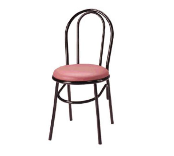 Waymar C210 Parlor Side Chair, Metal Open Hairpin Back, 1-1/2in Upholstered Seat