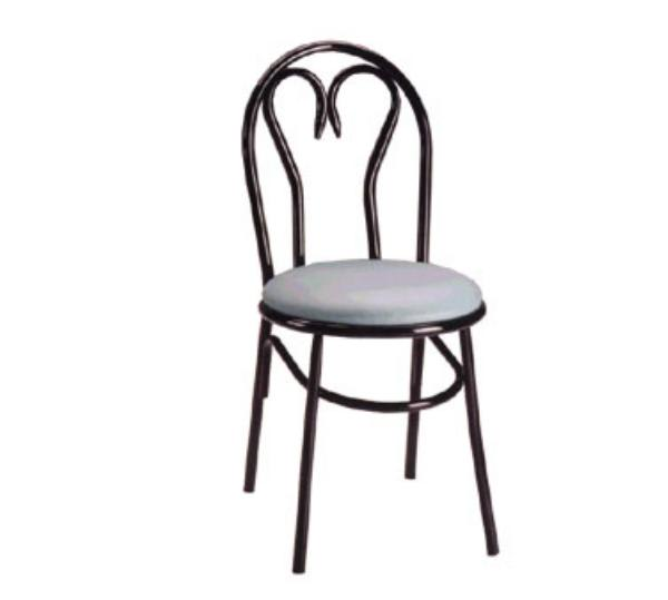 Waymar C220 Parlor Side Chair, Metal Sweetheart Back, 1-1/2in Upholstered Seat