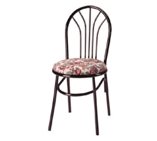 Waymar C251 Parlor Side Chair, Metal Fan-Shaped Spoke Back, 1-1/2in Upholstered Seat