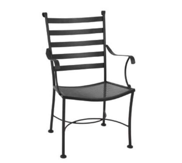 Waymar C817 Patio Arm Chair, Ladder Back, Wrought Iron