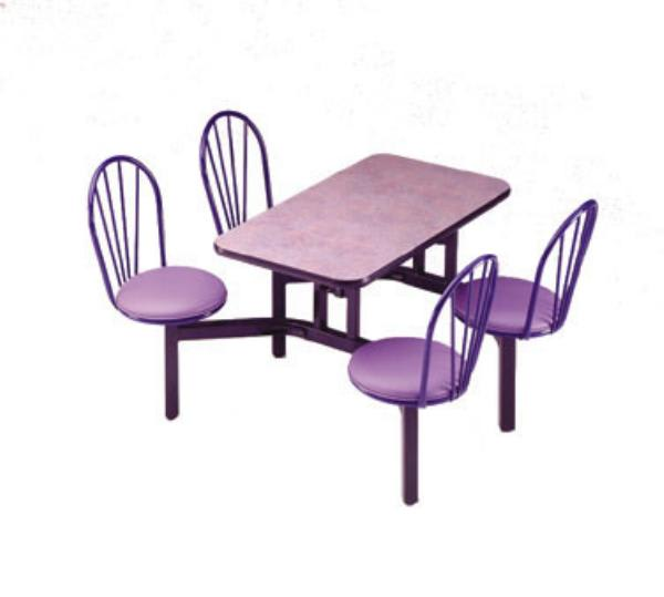 Waymar CA4WP Cascade Seating Support, Seat Chairs(4), Table (24 in x 48 in), Wall Positioned