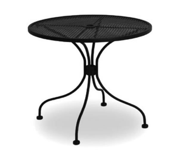 Waymar MT2930DM Patio Outdoor Table, 30 in Diameter, Metal Mesh Grid Top