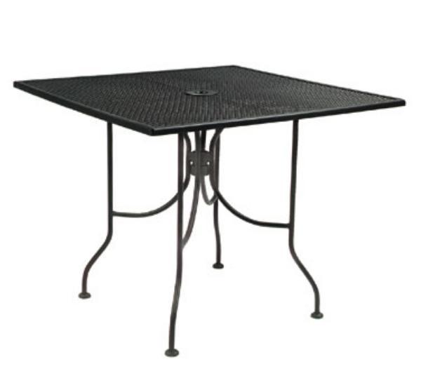 Waymar MT293636M Patio Outdoor Table, 36 x 36 in, Metal Mesh Grid Top