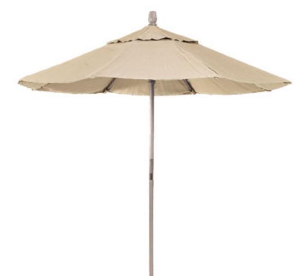 Waymar U170 Patio Umbrella, 7 Ft, Fiberglass Ribs, Aluminum Pole