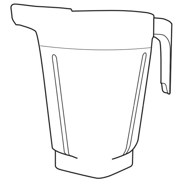 Vitamix Commercial 15896 1.5 gal Container For XL Blending System - No Lid, Plug, or Blade