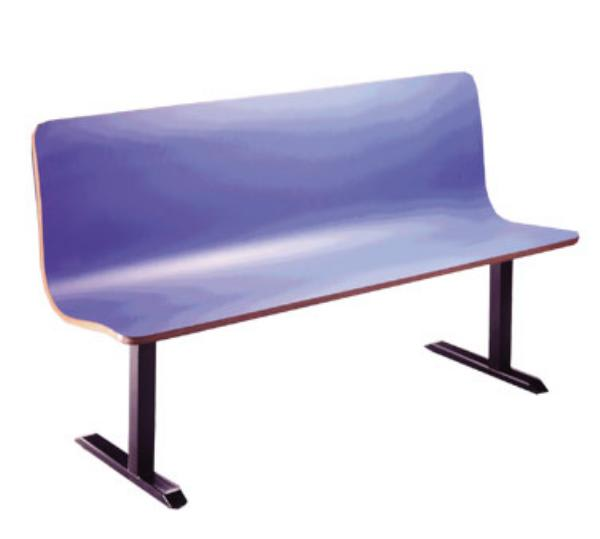 H Park Seating CM1658 CountourMold Continuous Seating, Seat, 16 in L
