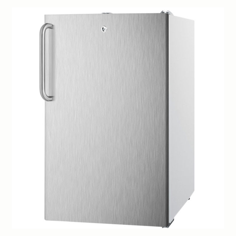 Accucold CM411L7SSTBADA 4.1 cu ft Undercounter Refrigerator Freezer w/ (1) Section & (1) Door, 115v