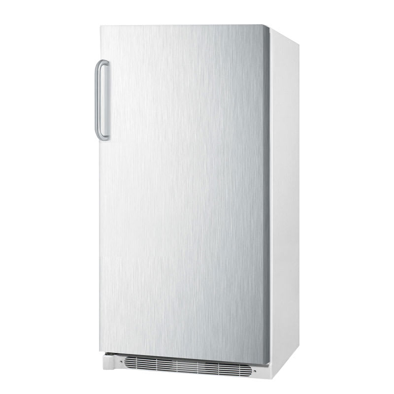 Accucold R17FFSSTB Refrigerator w/ Frost Free Operation & Fan Forced Cooling, White/Stainless, 15.6 cu ft