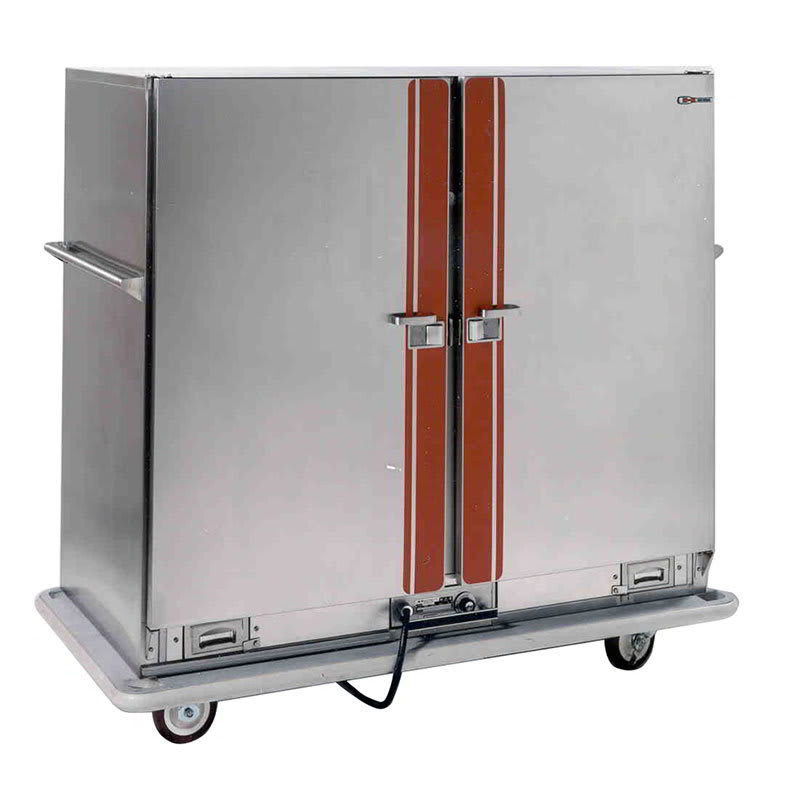 Carter-Hoffmann BB1000 Heated Banquet Cart, 2-Door, 96-Plate Capacity, Stainless