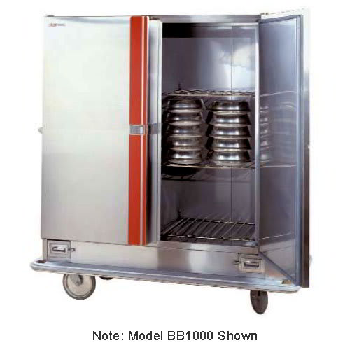 Carter-Hoffmann BB1200 Heated Banquet Cabinet w/ Canned Fuel Drawers, 2-Door, 120-Plates