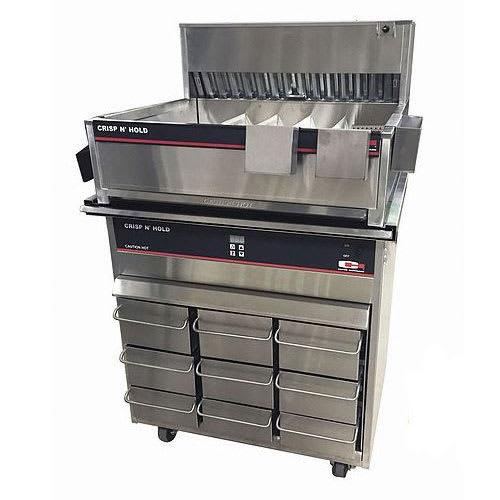 Carter-Hoffmann FFSTKPKG28 Crisp 'N Hold Dump Station (CNH28XD) & Vertical Holding Cabinet (VCNH3W3S) Stacked Combo, 120v