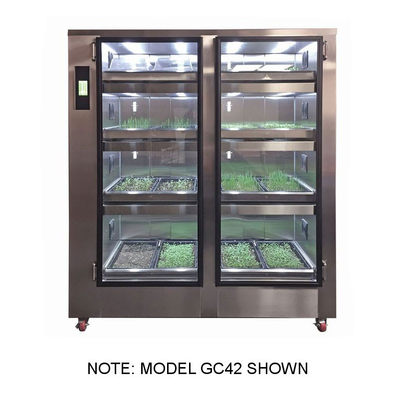 Carter-Hoffmann GC12 GardenChef Undercounter Herb & Microgreen Growing Cabinet - Holds (4) Growing Flats, 120v