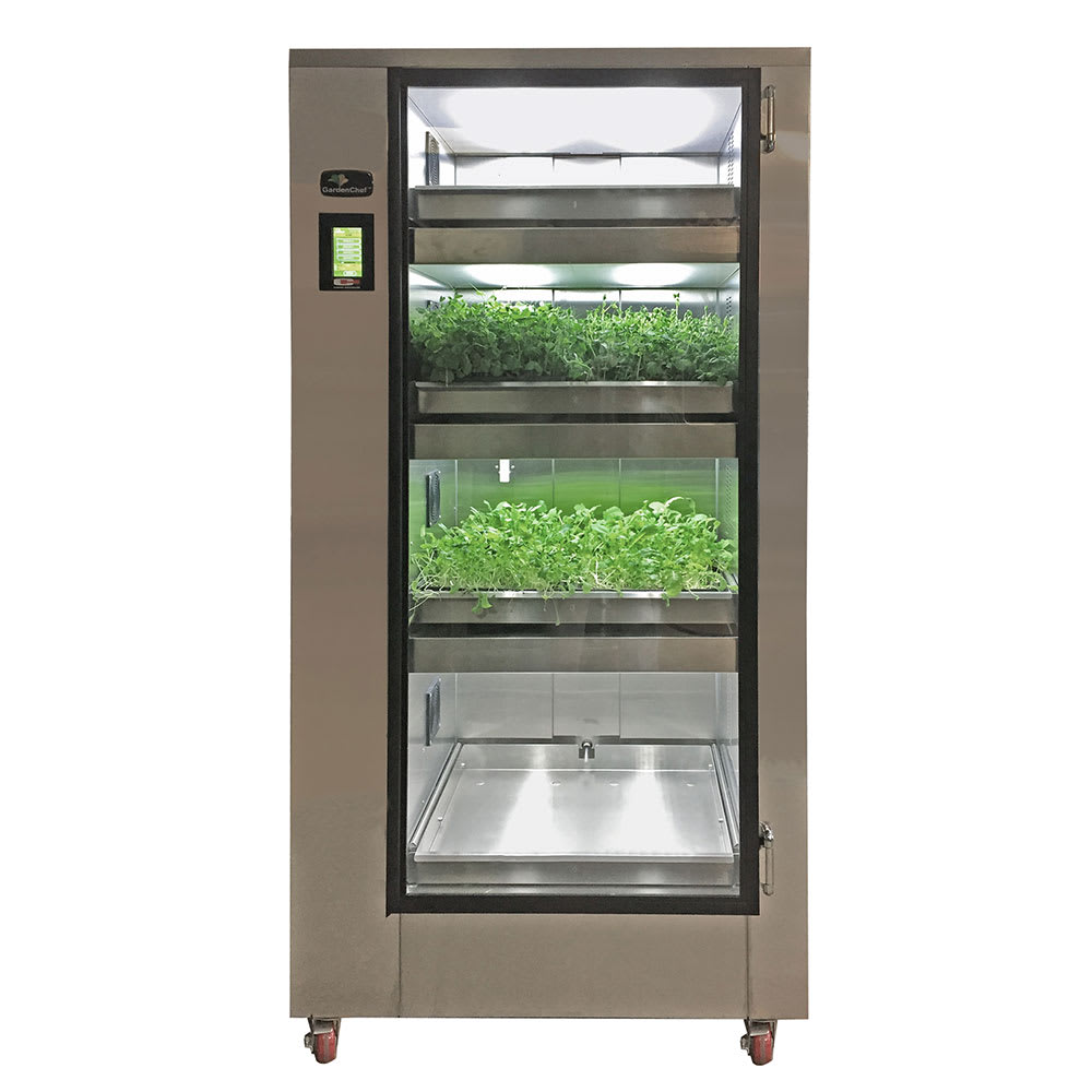 Carter-Hoffmann GC41 GardenChef Full-Height Herb & Microgreen Growing Cabinet - Holds (8) Growing Flats, 120v
