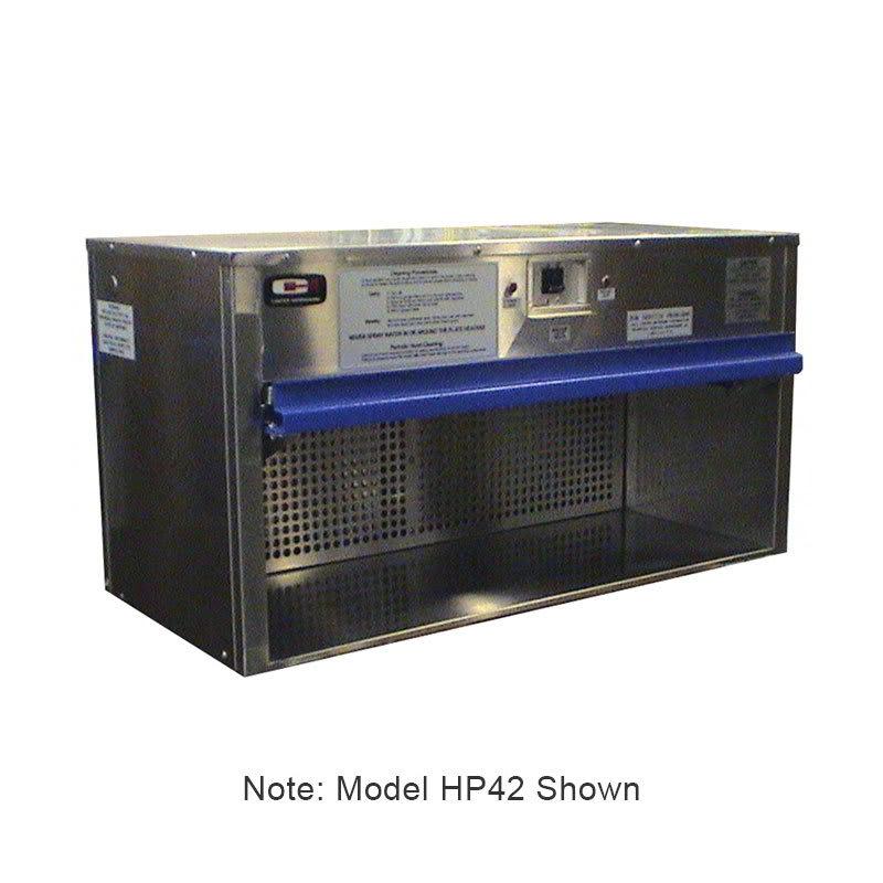 "Carter-Hoffmann HP40 40"" Plate Warmer w/ Removable Grease Filters, Flip-Up Door"