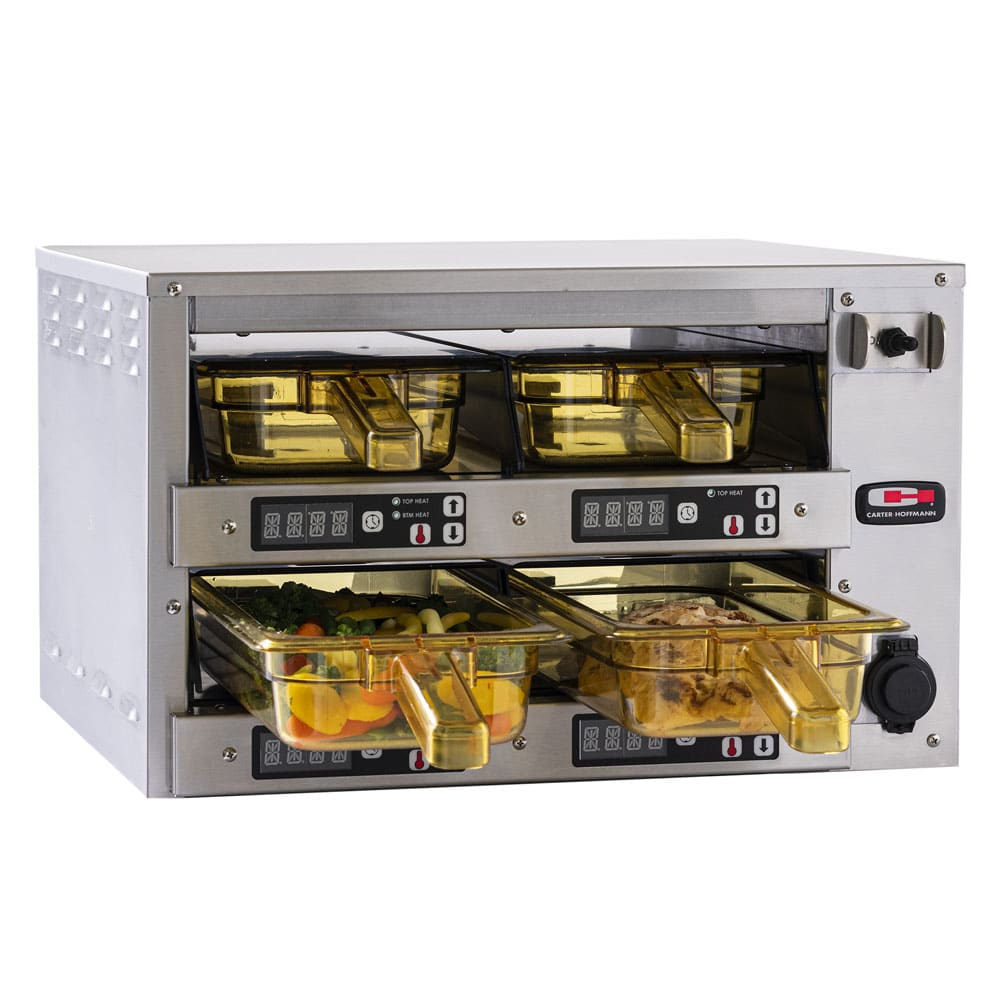 Carter-Hoffmann M223S-2T Countertop Heated Holding Cabinet w/ (4) Pan Capacity - Stainless, 120v