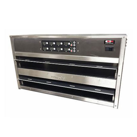 Carter-Hoffmann MC243GS-2T Countertop Heated Holding Cabinet w/ (4) Pan Capacity - Stainless, 120v