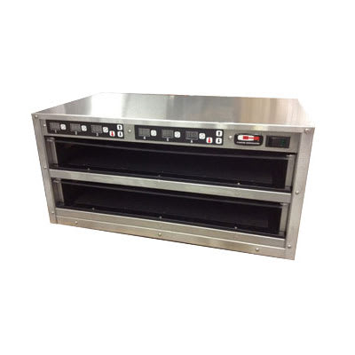 Carter-Hoffmann MZ212GS-2T Countertop Heated Holding Cabinet w/ (2) Pan Capacity - Stainless, 120v
