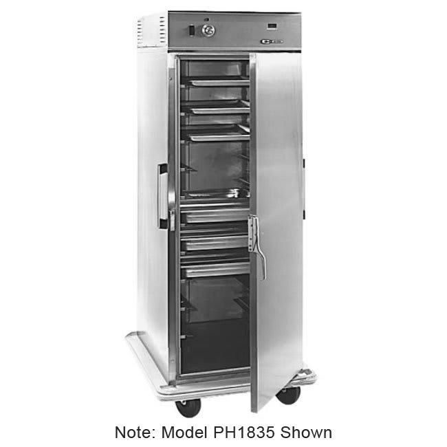 Carter-Hoffmann PH1815 3/4 Height Insulated Mobile Heated Cabinet w/ (10) Pan Capacity, 120v