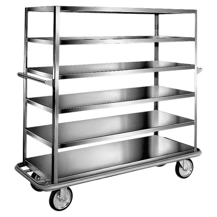 "Carter-Hoffmann T600 67.75"" Queen Mary Cart w/ 6 Levels, 1200-lb Capacity"