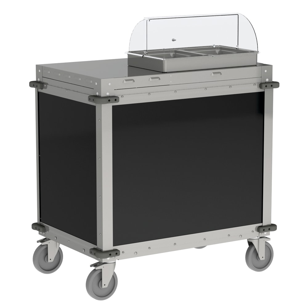 "Cadco CBC-SDCX-L6 40.5"" Mobile Demo/Sampling Cart w/ 22"" Cutting Board - Stainless, 120v"