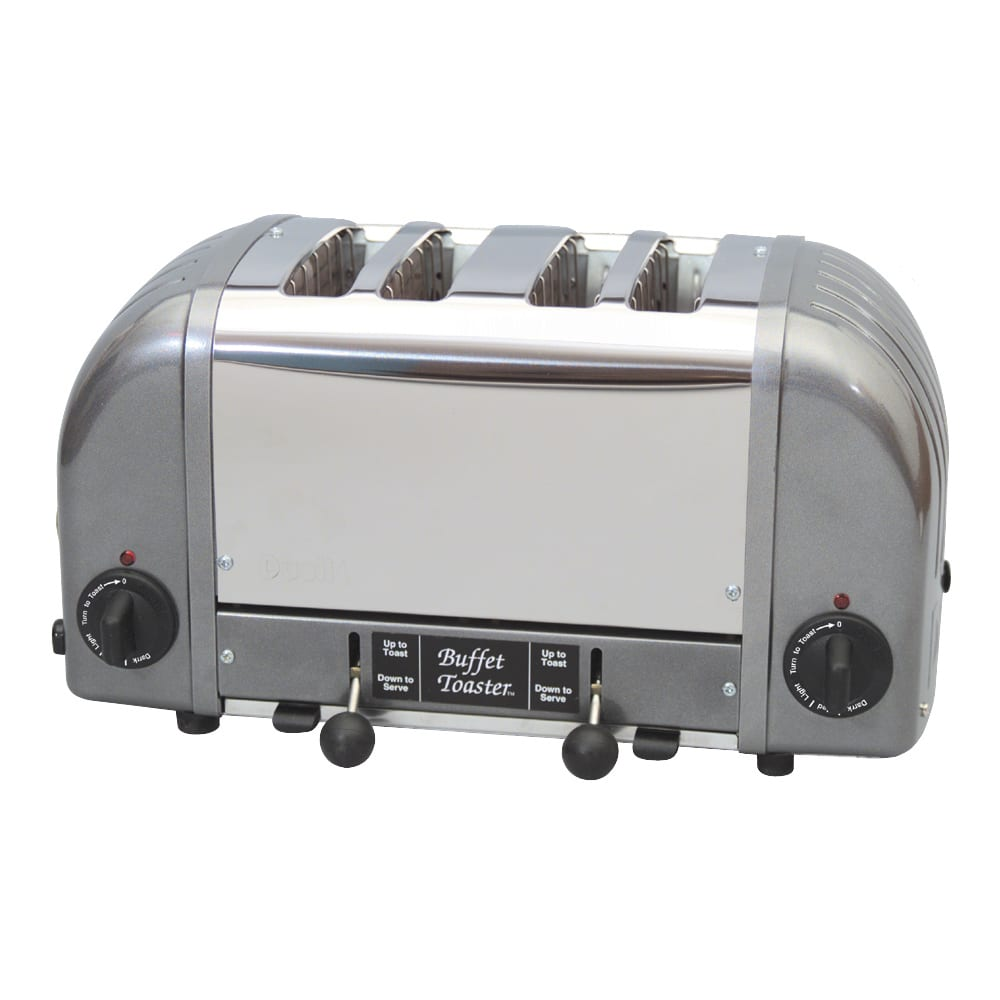 "Cadco CBF4M Slot Toaster w/ 4 Slice Capacity & 1""W Product Opening, 120v"