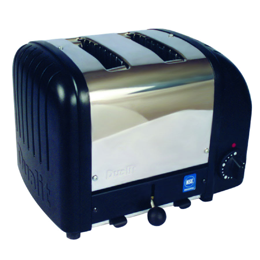 "Cadco CBT2B Slot Toaster w/ 2-Slice Capacity & 1.25""W Product Opening, 120v"
