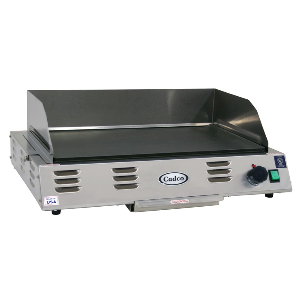 "Cadco CG-10 21"" Electric Griddle - Thermostatic, 1"" Steel Plate, 120v"
