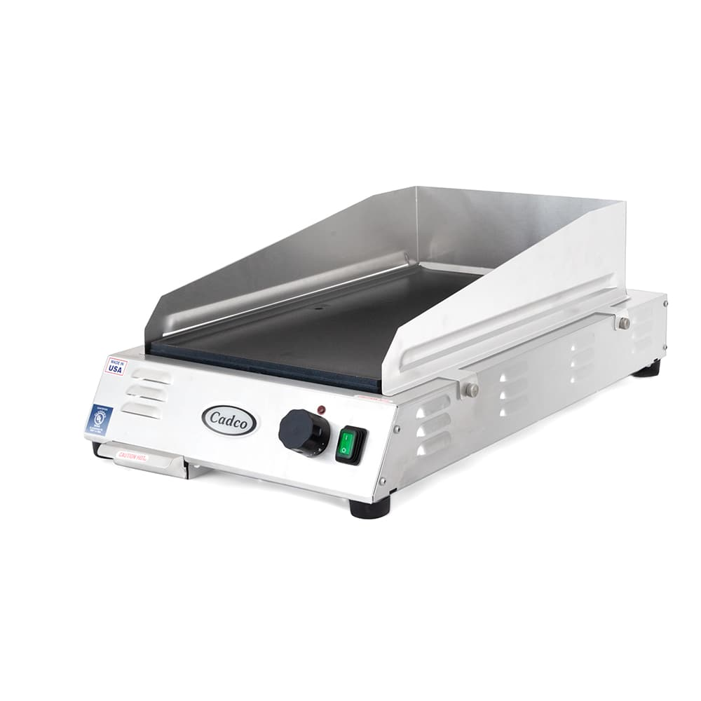 """Cadco CG-5FB 12"""" Electric Griddle - Thermostatic, 1"""" Steel Plate, 120v"""