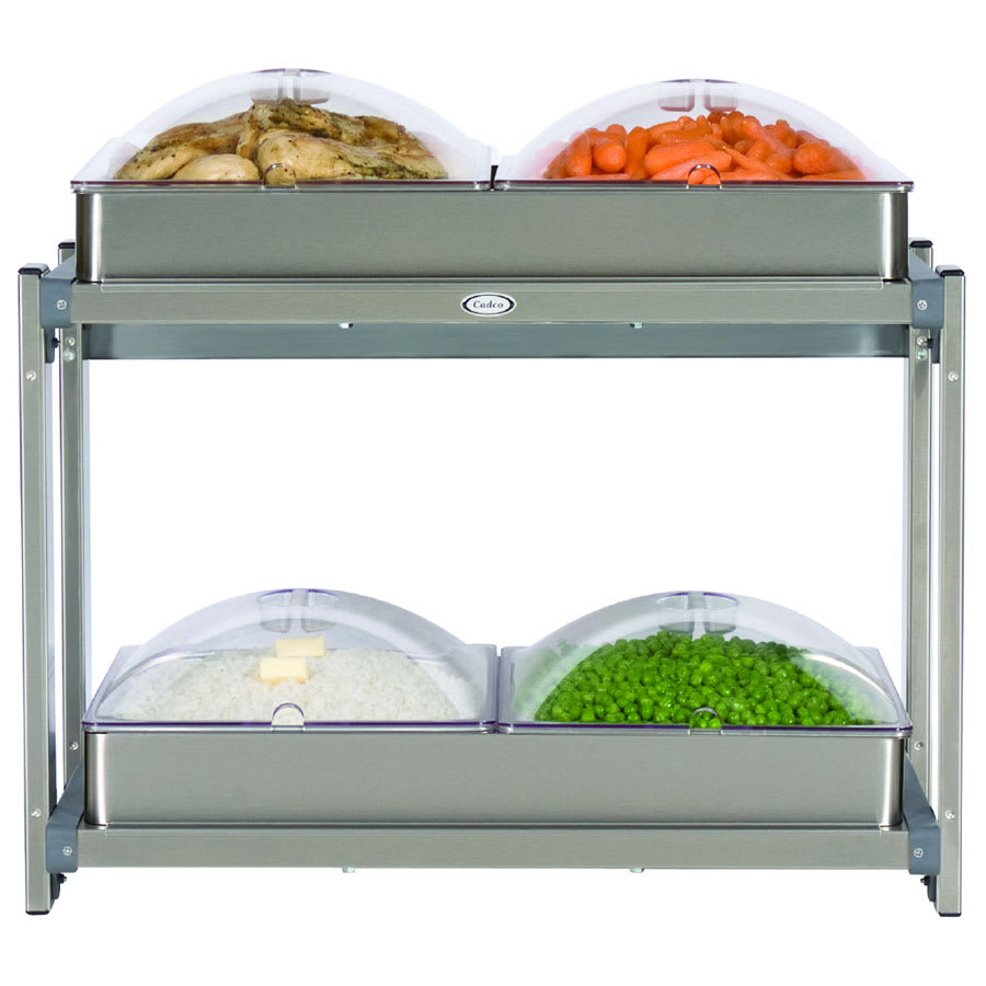 """Cadco CMLB24P Multi-Level Buffet Warmer, (2) 20-1/2 x 14""""Warming Surfaces"""