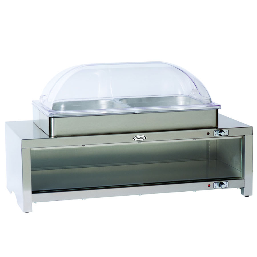 Cadco cmlbc rt buffet warmer warming cabinet style low