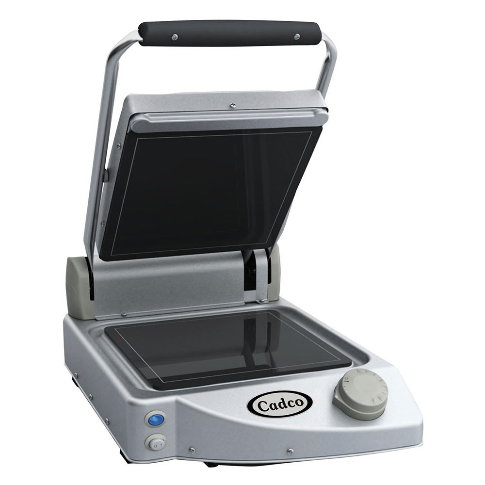 Cadco CPG-10F Commercial Panini Press w/ Ceramic Smooth Plates, 120v