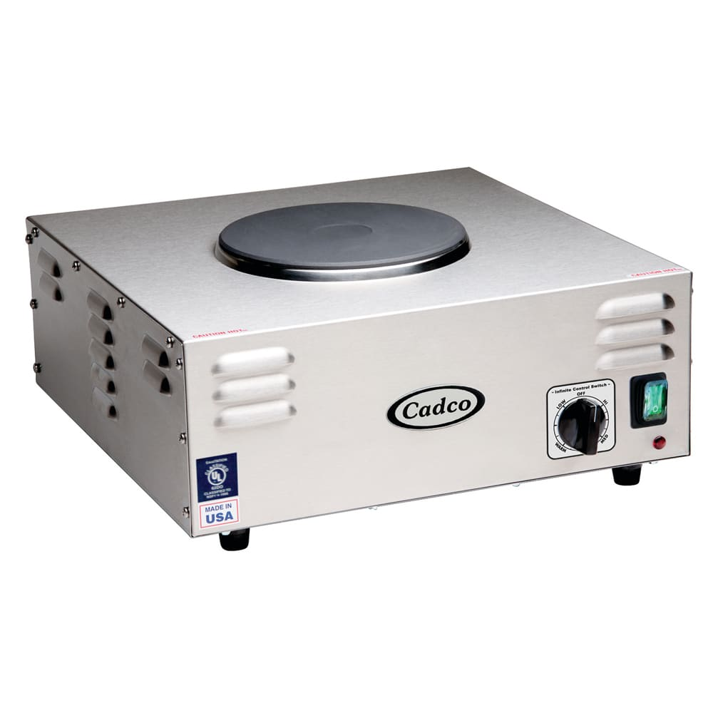 "Cadco CSR-1CH 15.38"" Electric Hot Plate w/ (1) Burner & Infinite Controls, 120v"