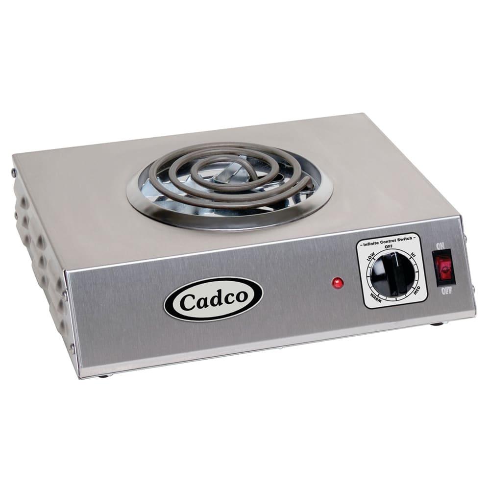 "Cadco CSR-1T 14"" Electric Hotplate w/ (1) Burner & Infinite Controls, 120v"