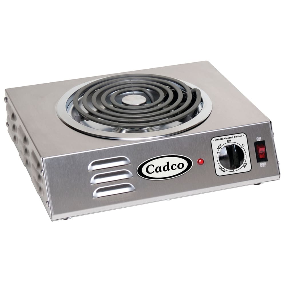 "Cadco CSR-3T 14"" Electric Hotplate w/ (1) Burner & Infinite Controls, 120v"