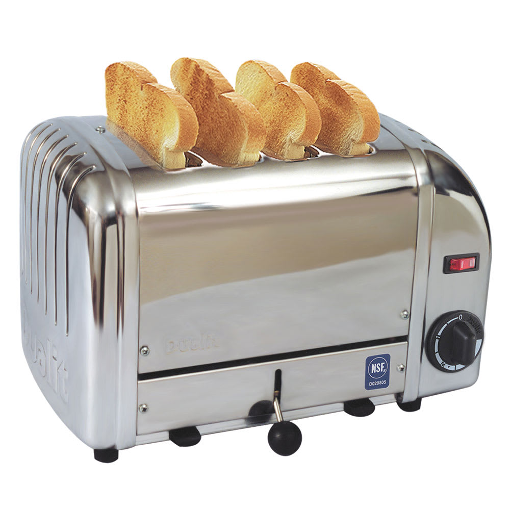 """Cadco CTS-4 Slot Toaster w/ 4-Slice Capacity & 1""""W Product Opening, 120v"""
