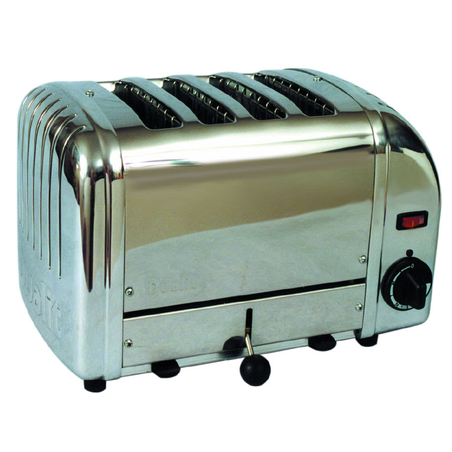 "Cadco CTS-4(208) Slot Toaster w/ 4-Slice Capacity & 1""W Product Opening, 120v"