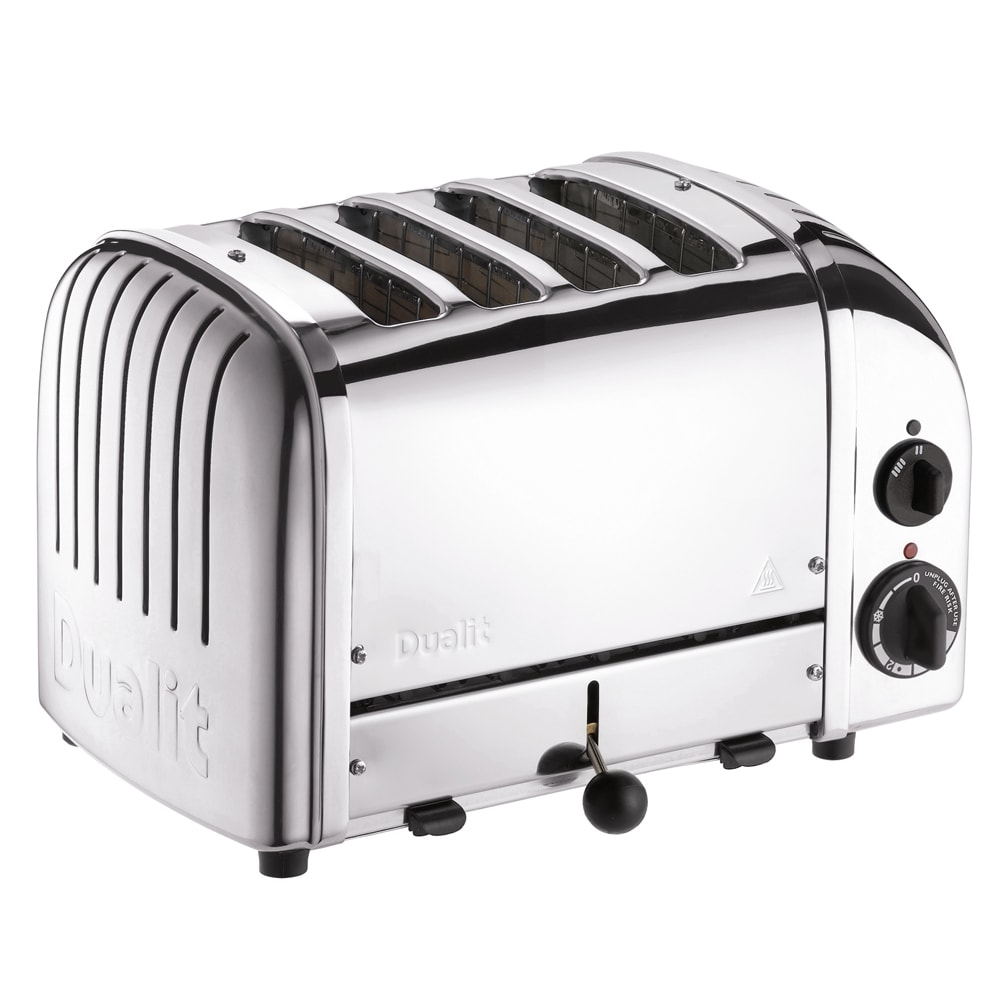 """Cadco CTS-4(220) Slot Toaster w/ 4-Slice Capacity & 1""""W Product Opening, 220v"""
