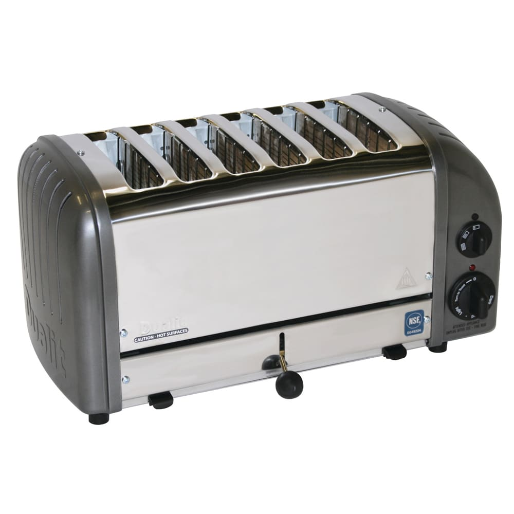 "Cadco CTW-6M 6 Slot Toaster 1"" Product Opening, 220v/1ph"