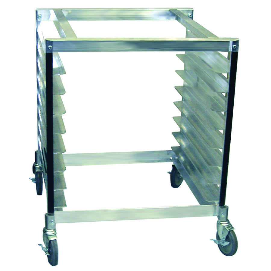 """Cadco OST-195 30"""" x 28"""" Mobile Equipment Stand for XAF/XAFT Convection Ovens, Pan Slides"""
