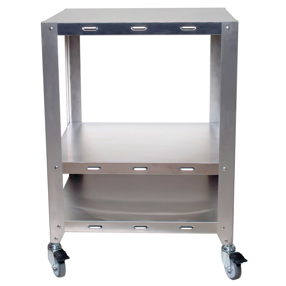 "Cadco OVHDS 25.75"" x 30.25"" Mobile Equipment Stand for Cadco Convection Ovens, Undershelf"