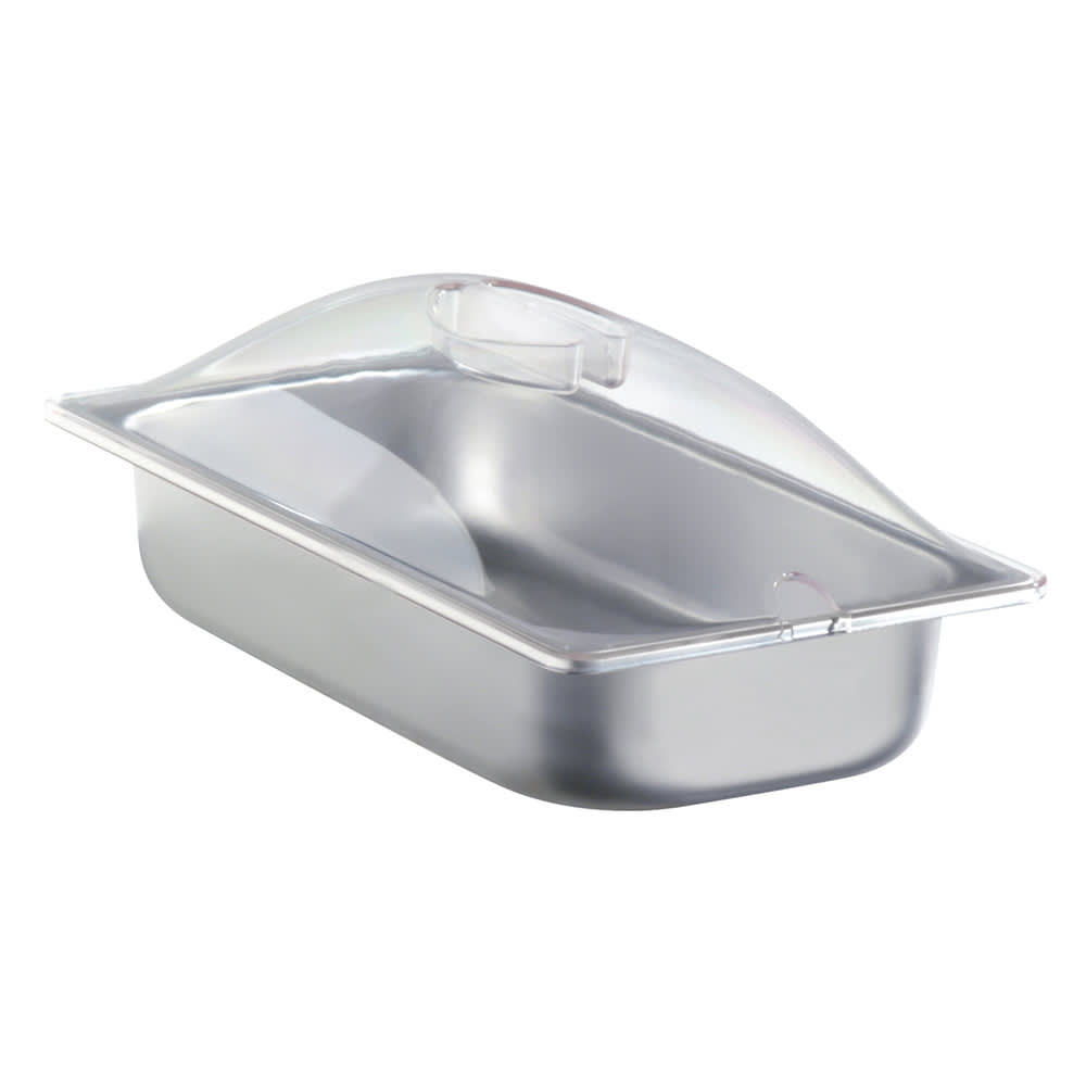 Cadco SPL3P Third-Size Steam Pan w/ Cover, Stainless