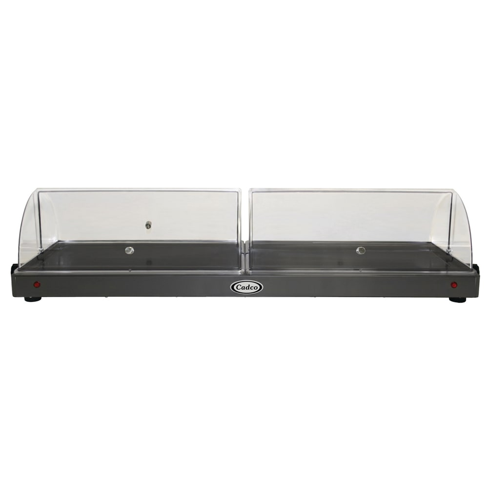 """Cadco WTRT-40-HD 45"""" Heated Shelf w/ Roll Top Lid - Stainless, 120v"""