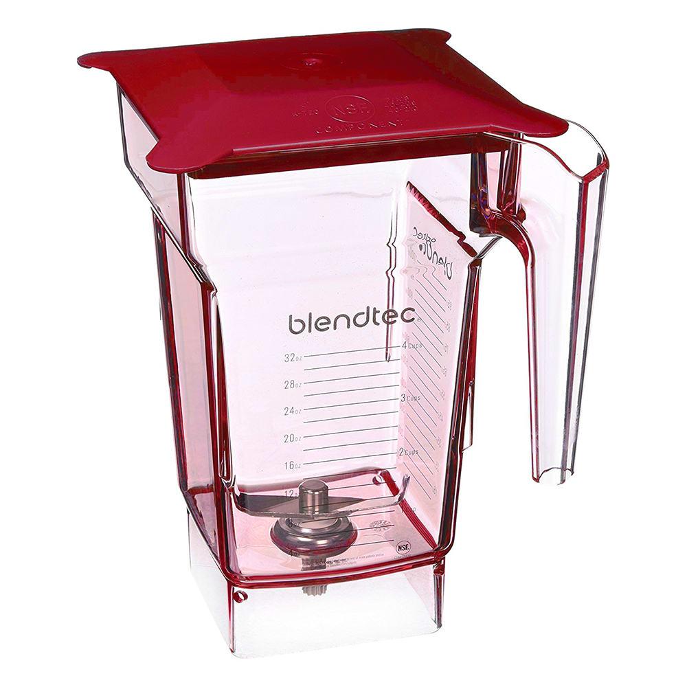 Blendtec FOURSIDERED-H 2-qt FourSide Blender Jar w/ Hard Lid & Wingtip Blade, Red