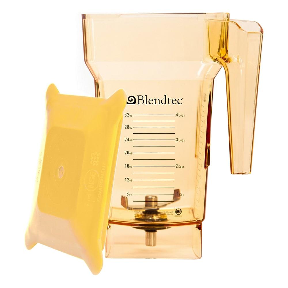 Blendtec FOURSIDEYELLOW-H 2 qt FourSide Blender Jar w/ Hard Lid & Wingtip Blade, Yellow